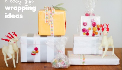 6 easy gift wrapping ideas