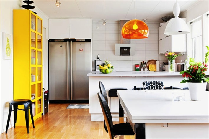kitchens with yellow black and white the punchcard posse