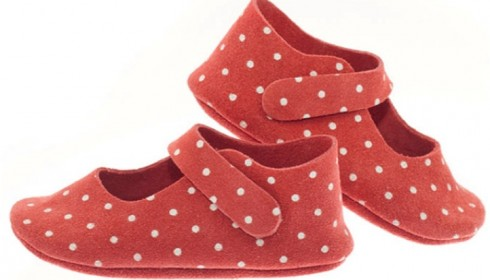 persimmon polka dot shoes