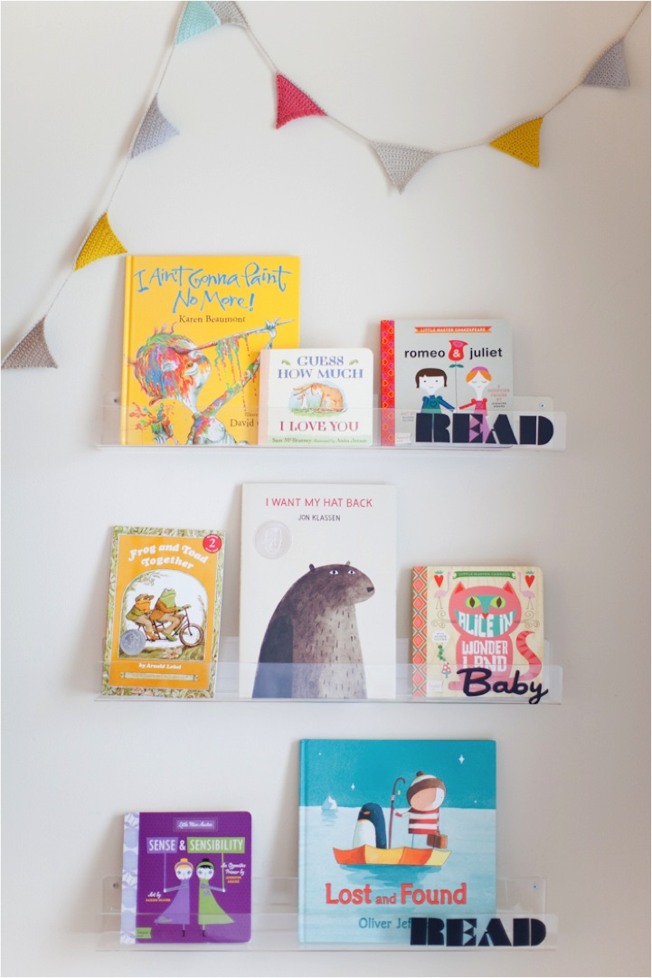 diy clear nursery shelvesread baby read - Acrylic Bookshelves
