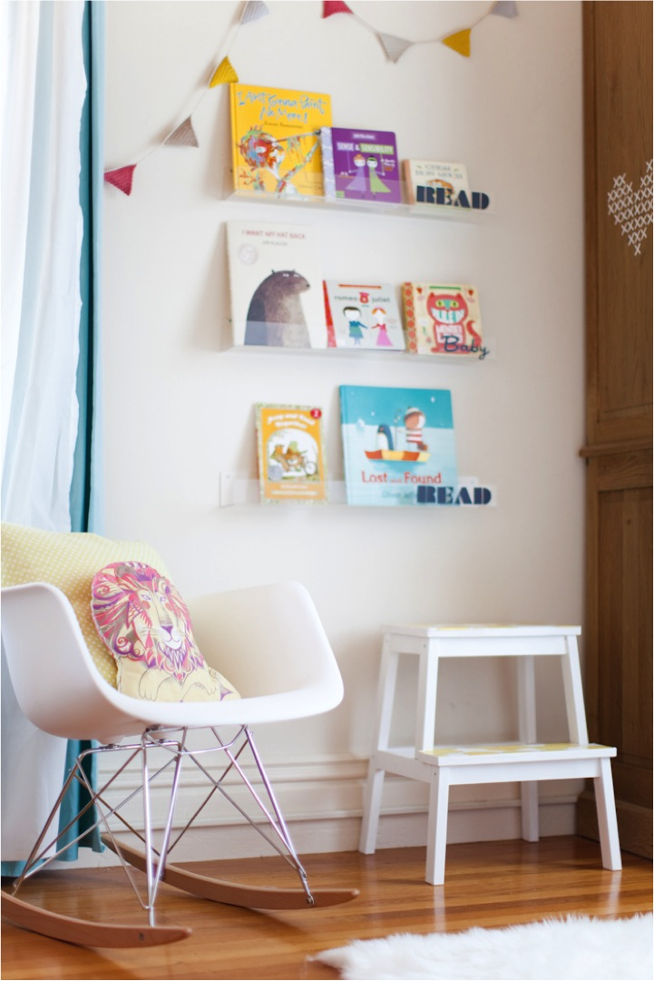 Read Book Shelf diy clear nursery shelvesread baby read! | this little street