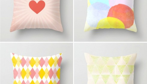 colorful pillows by Menina Lisboa
