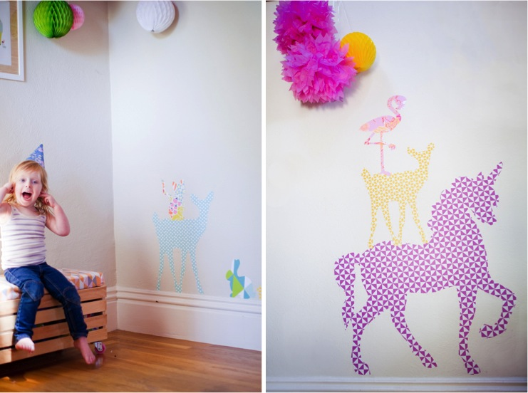 Diy giant animal wall stickers with free printables for Create your own wall mural photo