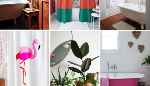 tropical bathroom inspiration board