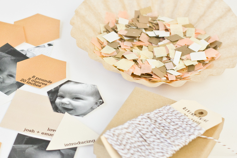 DIY birth announcements in a box Guest post by Kelly from Studio – Diy Baby Announcements