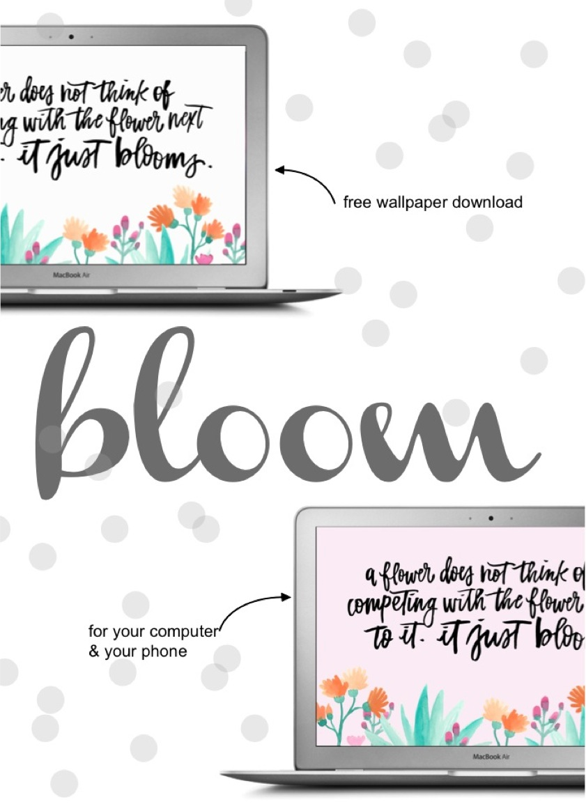 bloom free desktop and phone wallpaper