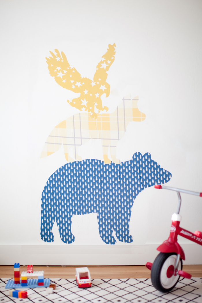 DIY giant wall stickers using removable wallpaper
