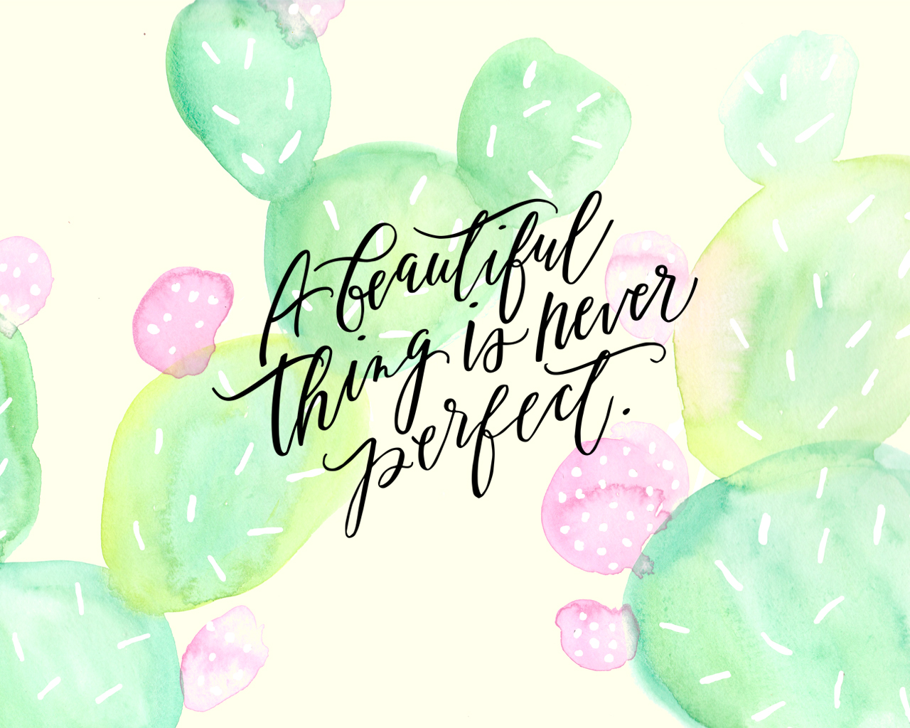 A beautiful thing is never perfect