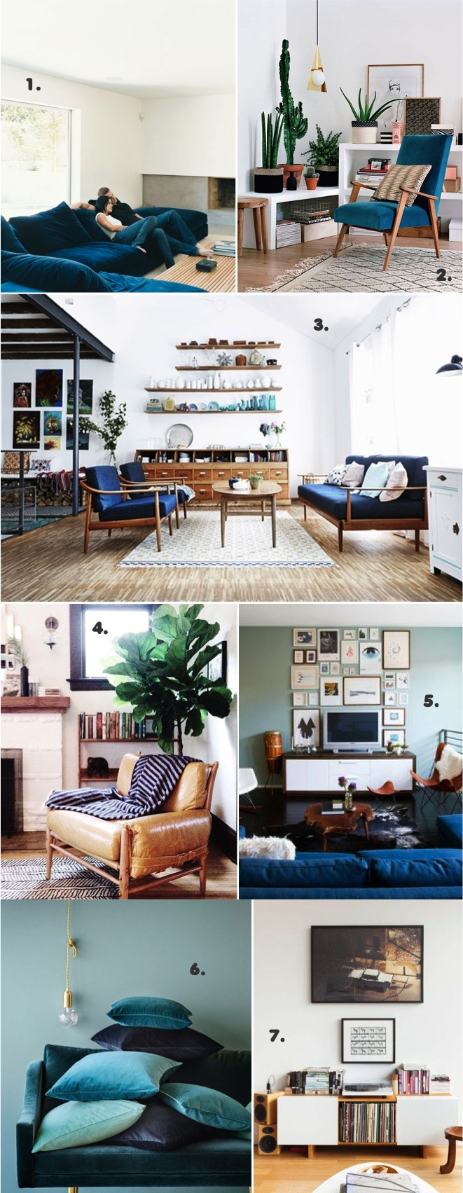 Modern media family room moodboard