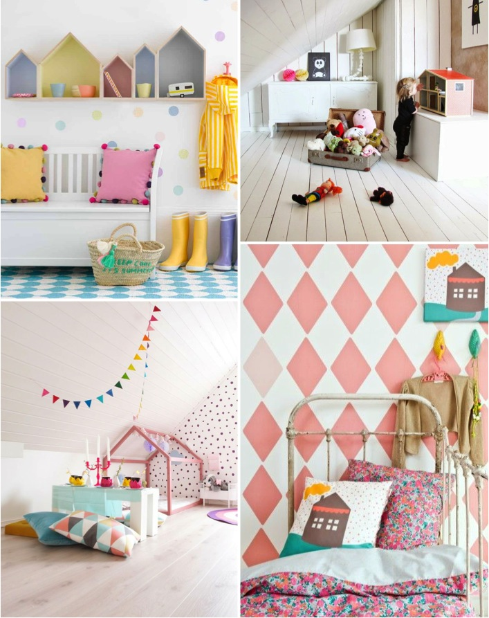 girl inspiration board for bedroom