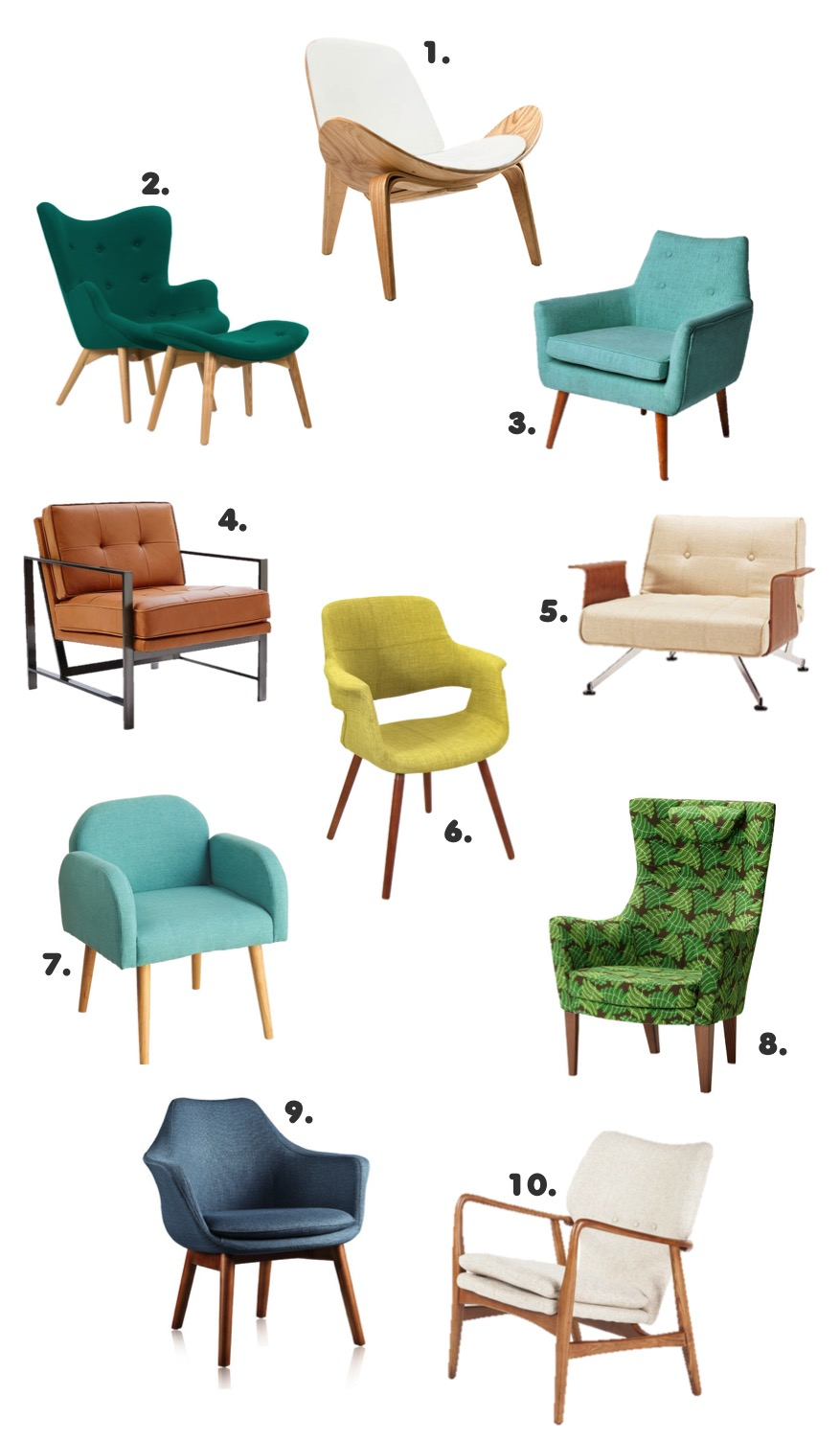 10 gorgeous modern accent chairs
