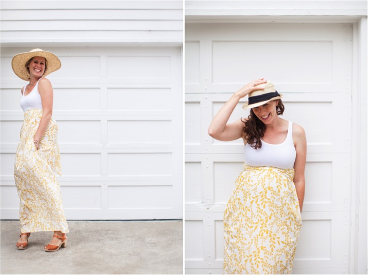 DIY tank maternity dress that you can wear after before