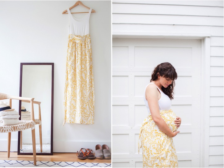 DIY tank top dress that you can wear during pregnancy and after