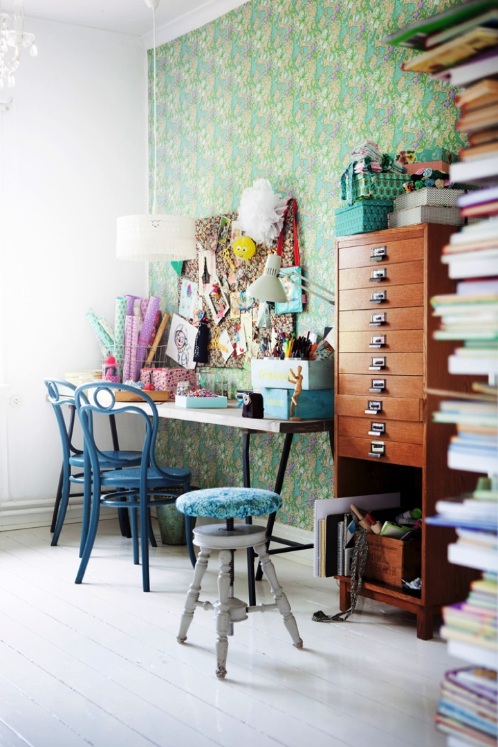 office with vintage feel
