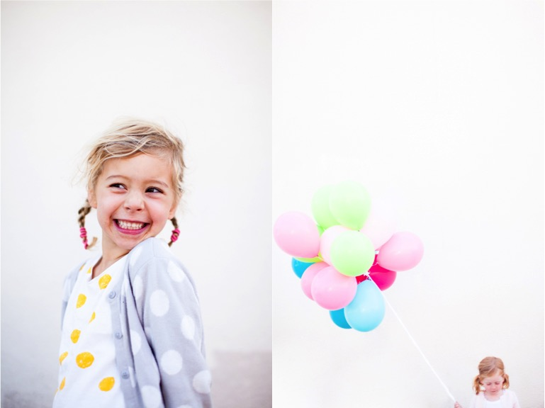 polka dots and balloons happiness