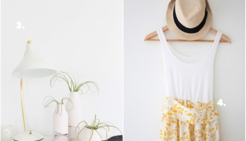DIY round up in gold and white