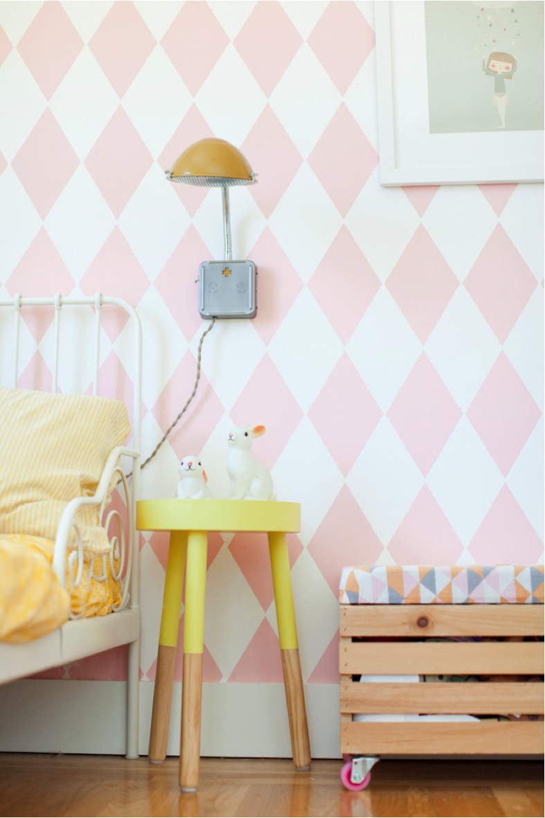 arlequin removable wallpaper for little girls room