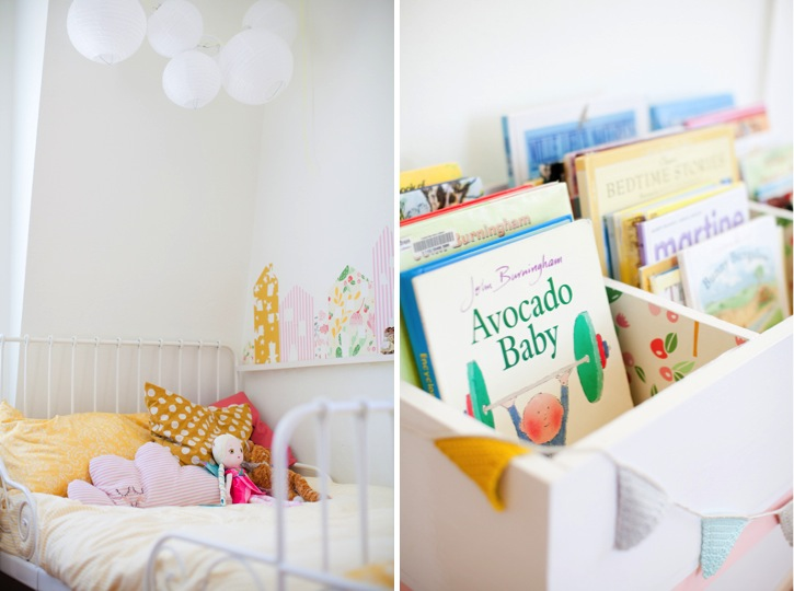 colorful bright little girl bedroom