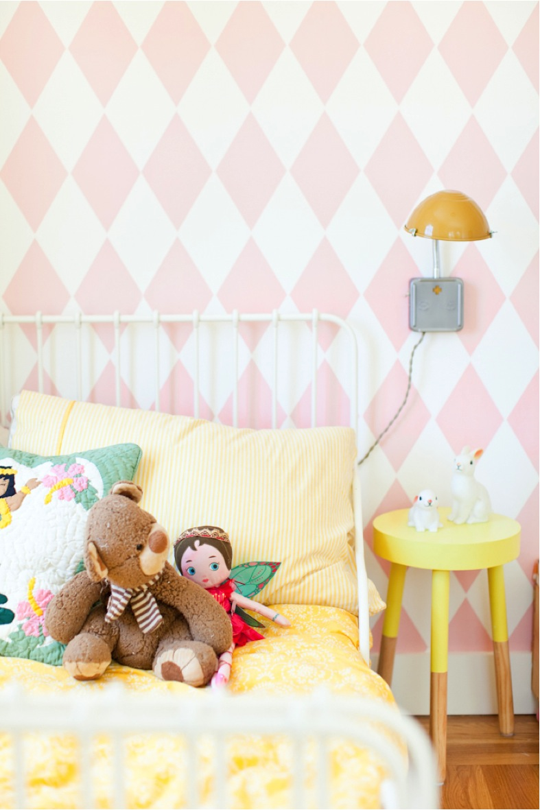 colorful little girl bedroom