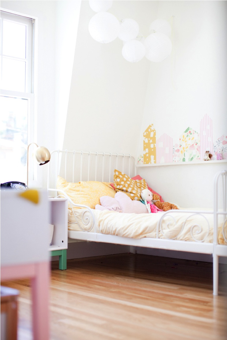 colorful shared sisters bedroom