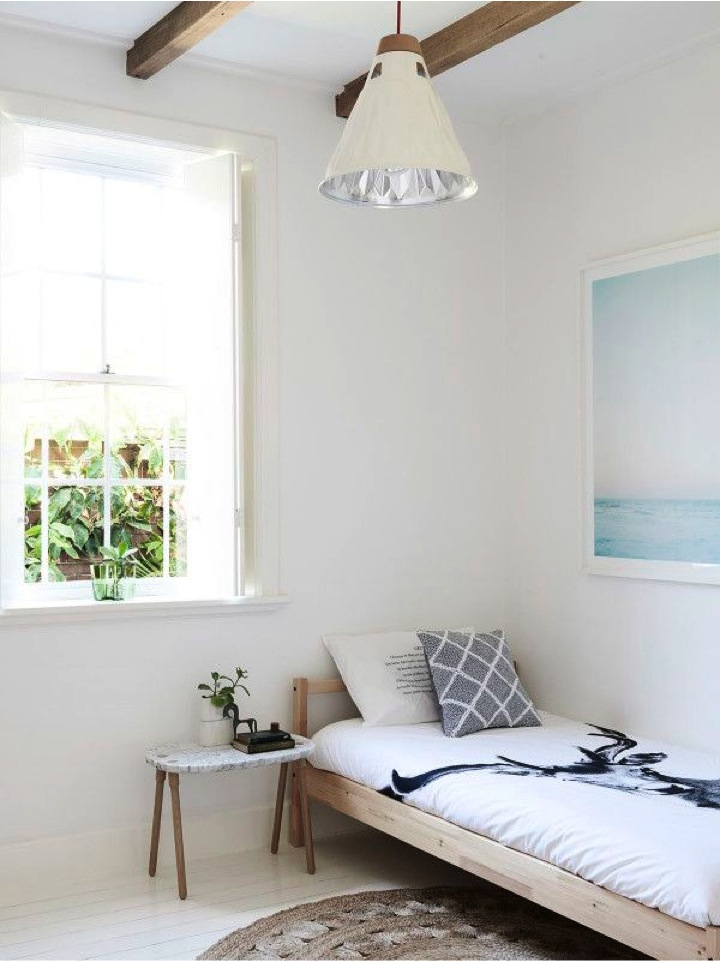 simple bright and airy bedroom