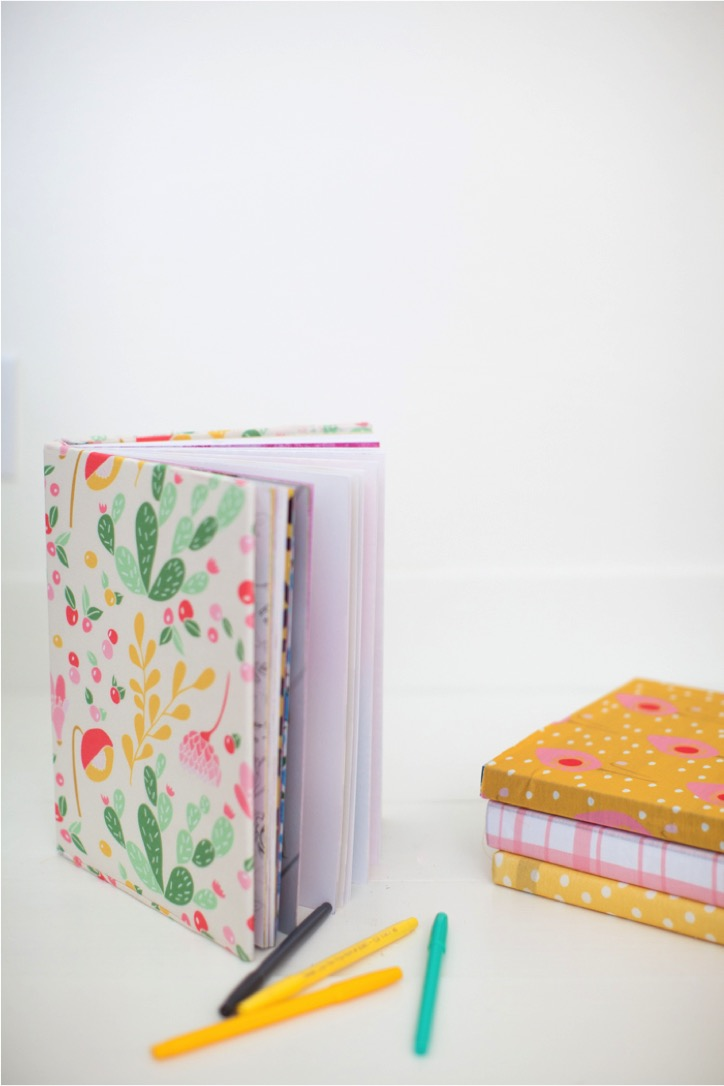 DIY reusable book covers with fabric