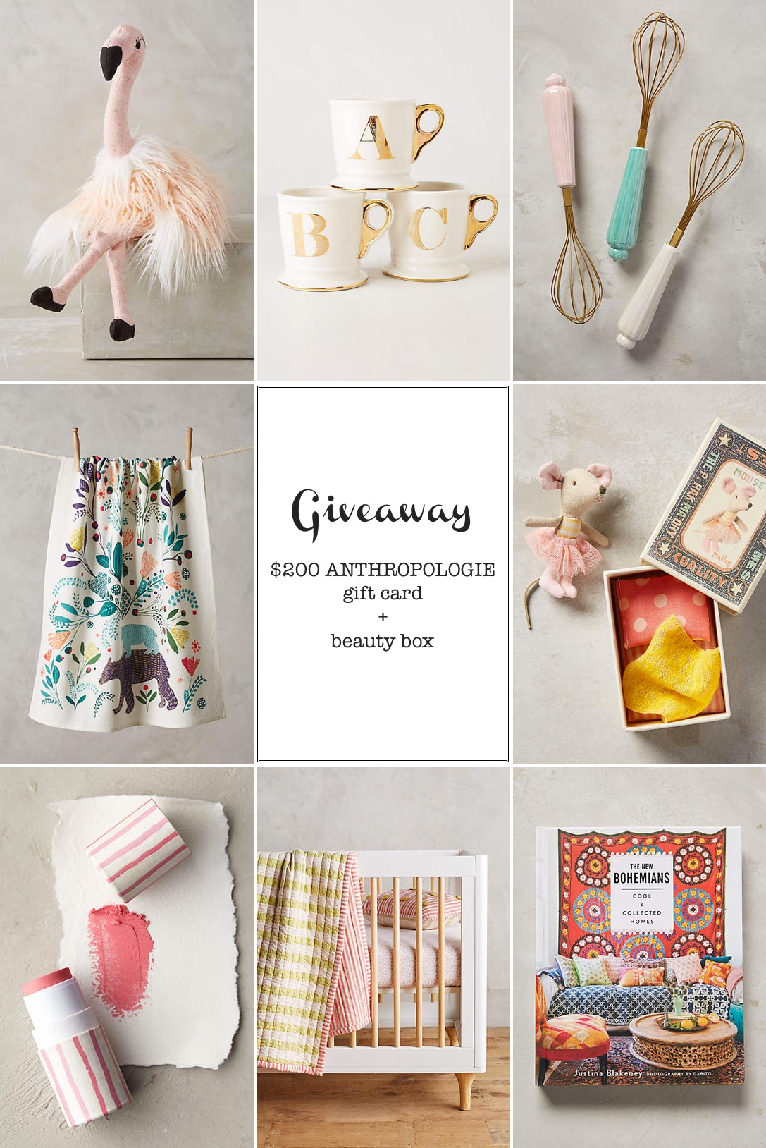 anthropologie giveaway on This Little Street