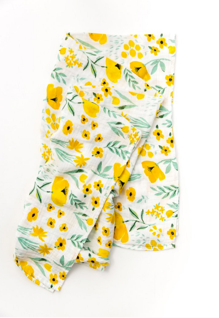 Clementine Kids Yellow floral swaddle