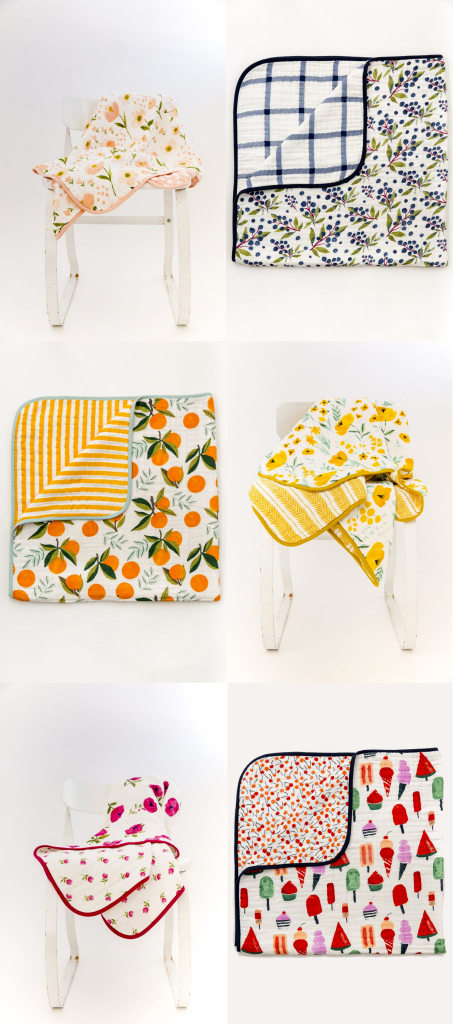 Clementine Kids reversible Muslin Quilts